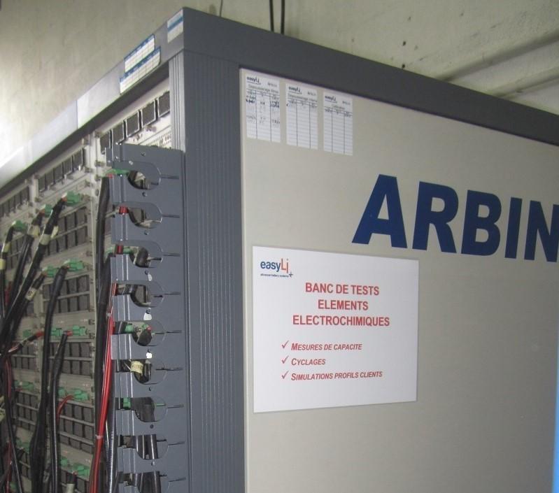 Banc de tests d'éléments électrochimiques
