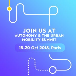 AUTONOMY 2018, October, Paris