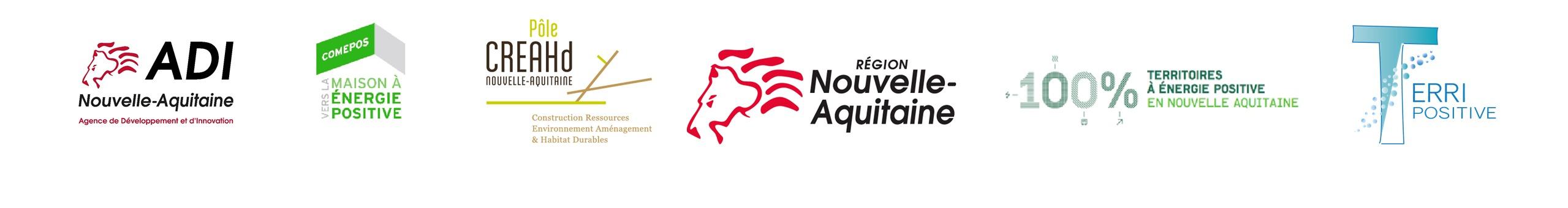 logotypes des partenaires d'easyLi en région Nouvelle Aquitaine