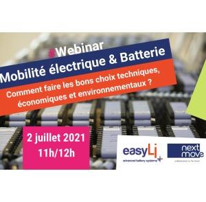 webinar mobilité électrique et batteries